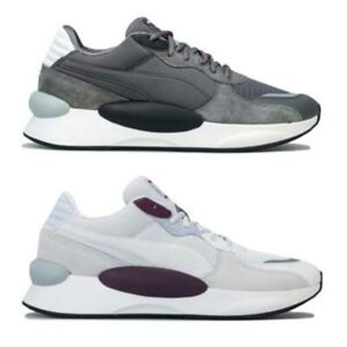 Mens Puma RS 9.8 Gravity Cushioned Trainers in Grey/Black and White/Purple