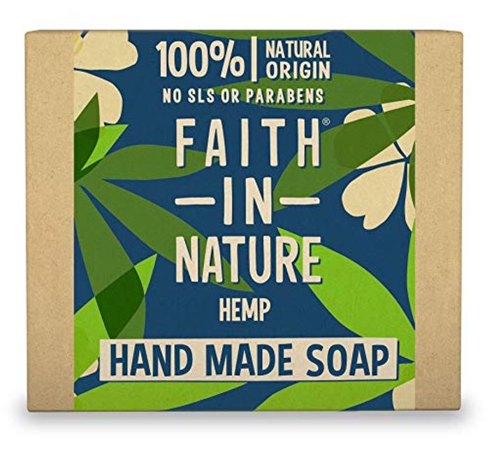 Faith in Nature Natural Hemp Hand Soap Bar, Vegan 100g (Possibly £1.66)