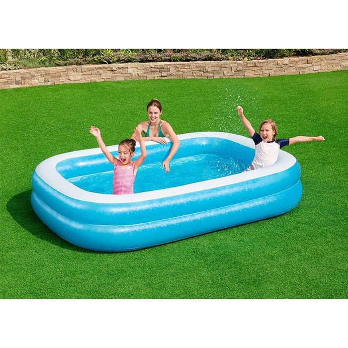 Rectangular Family Inflatable Pool - 2.62m X 1.75m X 51cm - 450 L (119 Gal)