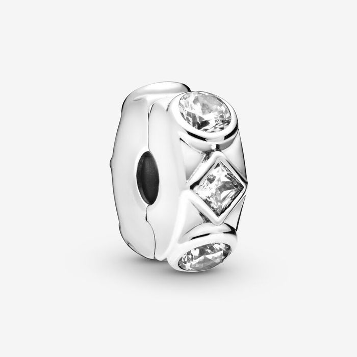 Pandora Geometric Shapes Clip Charm