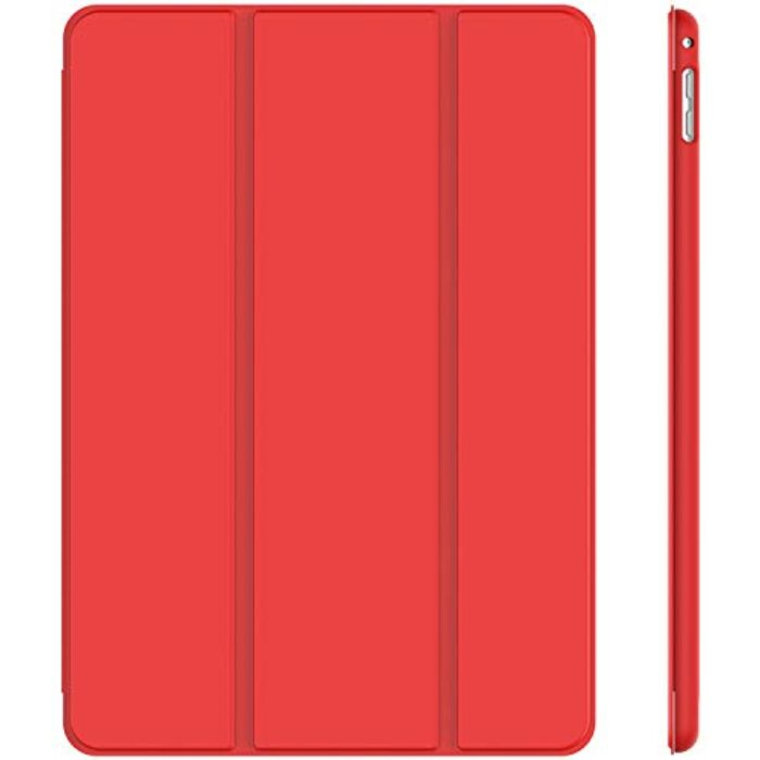 JETech Case for Apple iPad Mini 4, Smart Cover with Auto Sleep/Wake, Red