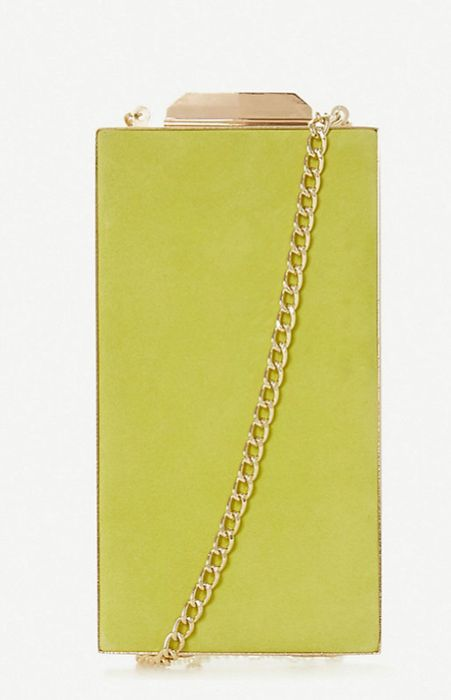 Dune Barlboro Suede Box Clutch Bag