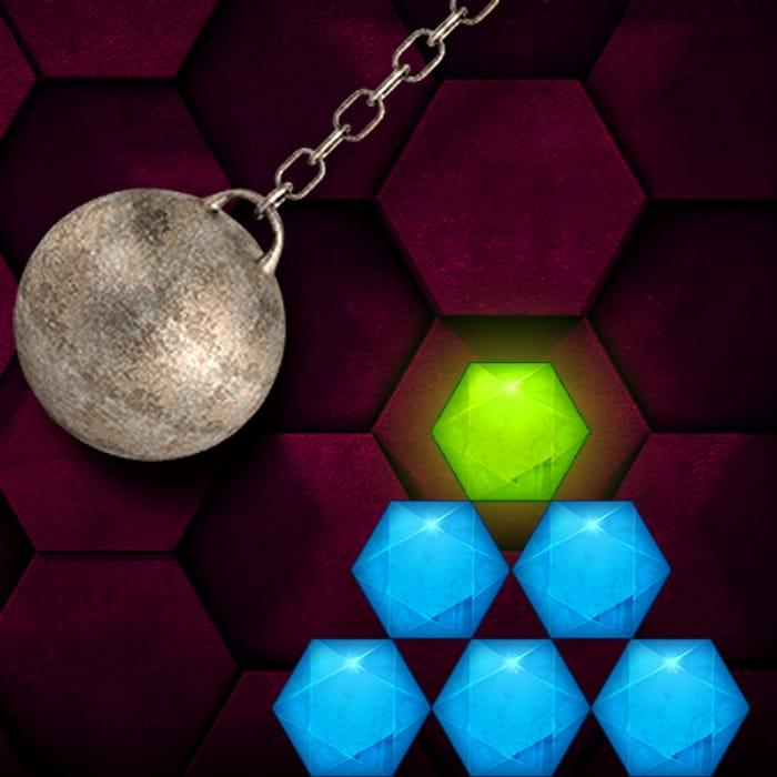 HEXASMASH Wrecking Ball Physics Puzzle