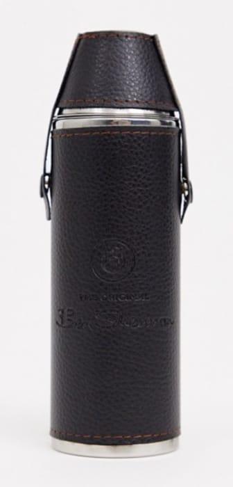 Ben Sherman Mini Flask and Cups - Black
