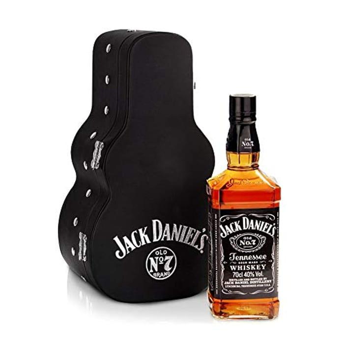 Jack Daniel's Old No.7 Guitar Case Whisky Gift Pack, 70cl
