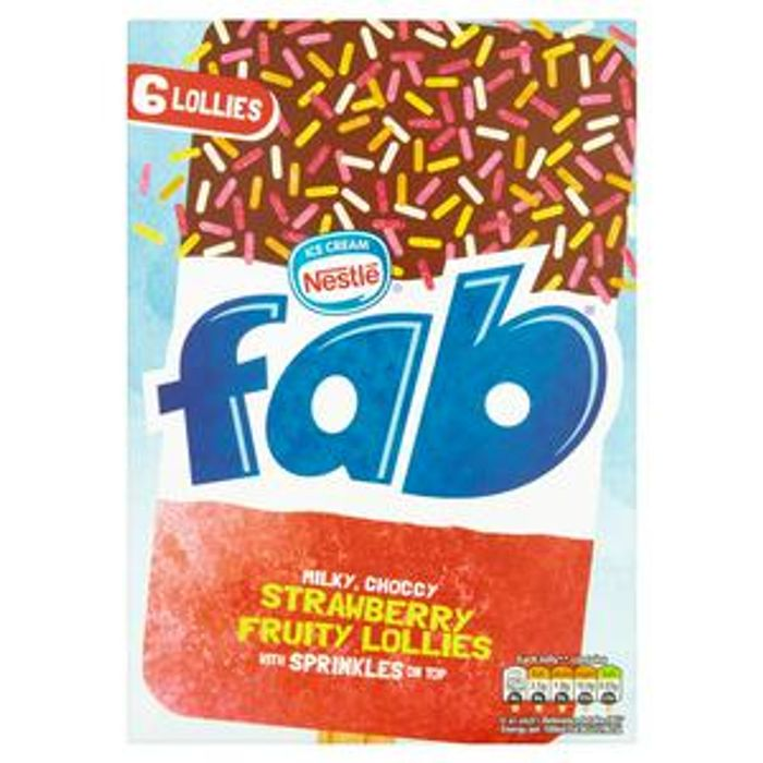 Fab Strawberry X6 348ml