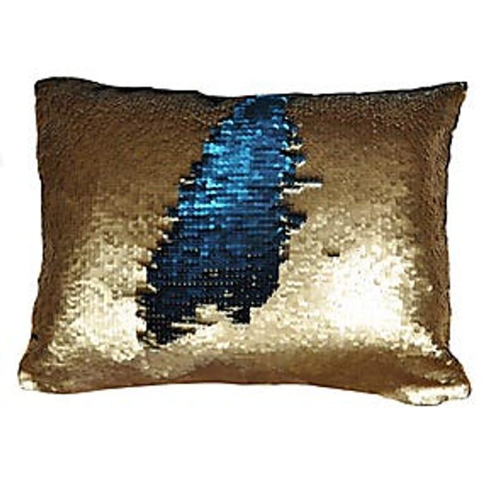 Two Tone Sequin Cushion