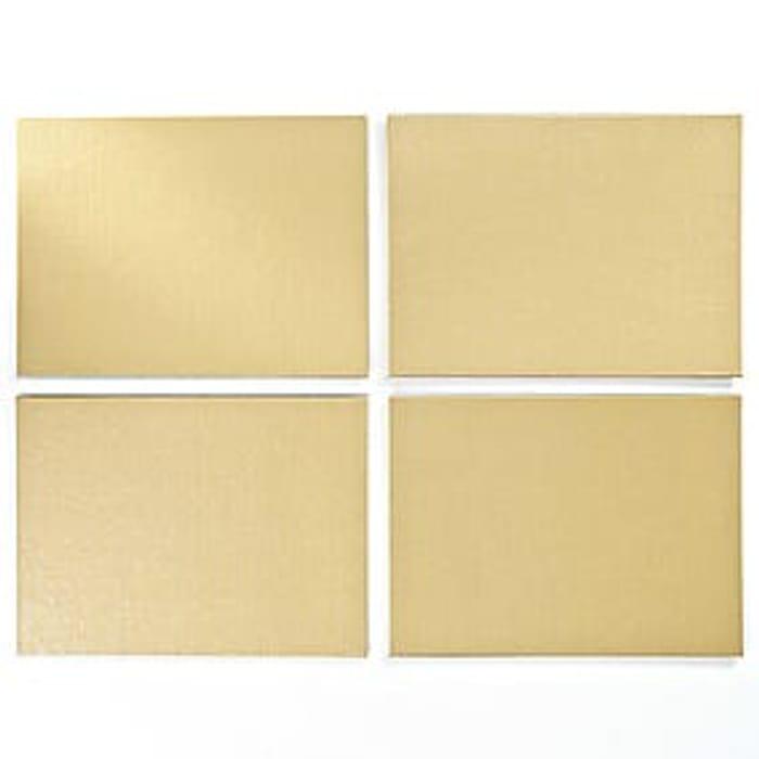 4 Gold Glitter Place Mats
