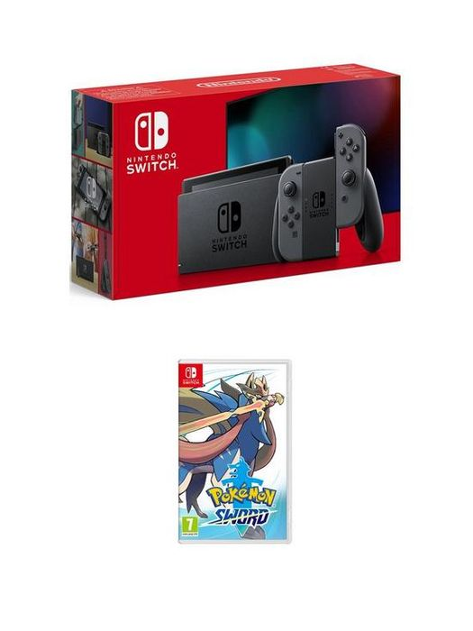 Nintendo Switch: Nintendo Switch Console (Improved Battery) with Pokemon Sword