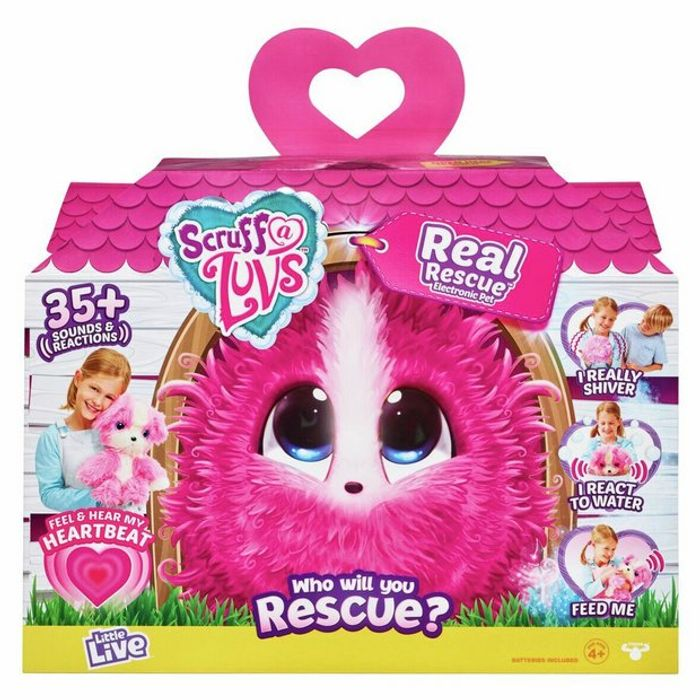 Scruff a Luvs Real Rescue - Surprise Interactive Pet - Pink