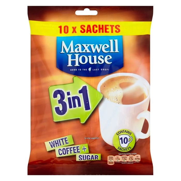 Maxwell House 3 in 1 Coffee (Case of 140 Sachets)