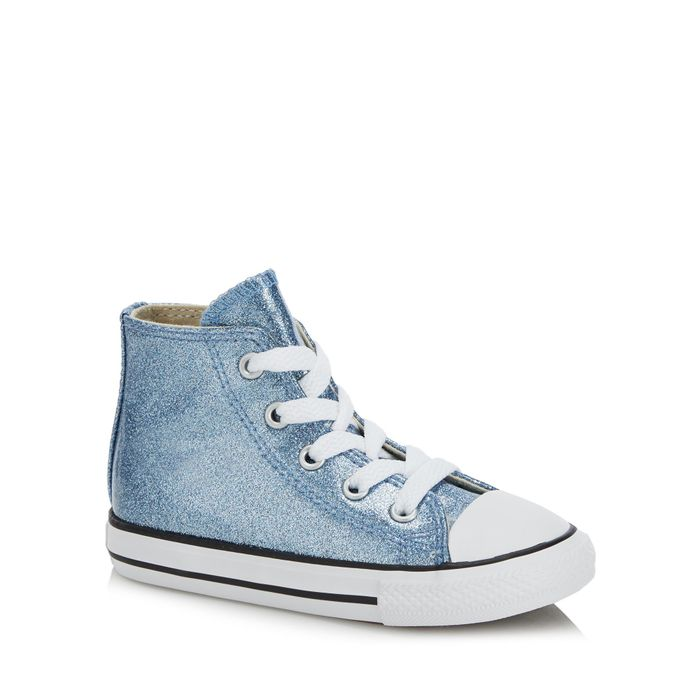 Converse - Blue Glitter 'Chuck Taylor All Star' Hi Top Trainers