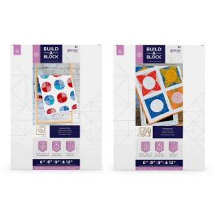 Gemini Build-a-Block Curves Die Sets for Quilting