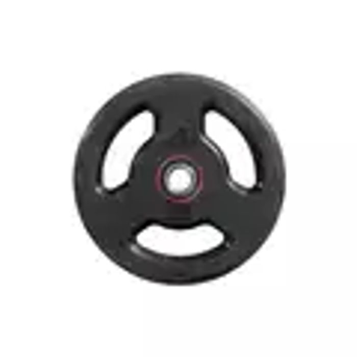 DOMYOS Rubber Weight Disc with Handles 28 Mm - 10 Kg