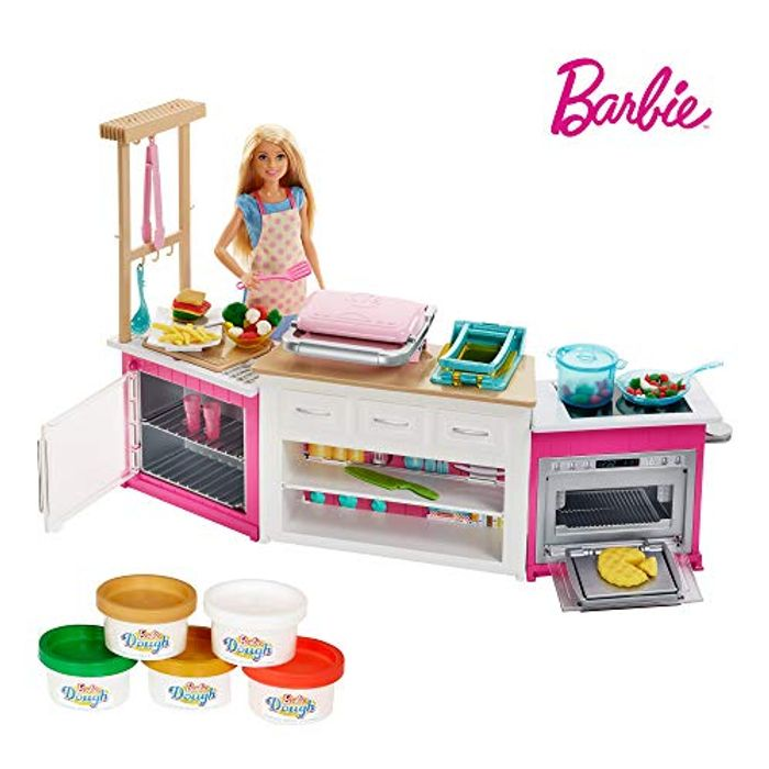SAVE £23 - Barbie Ultimate Kitchen with Doll