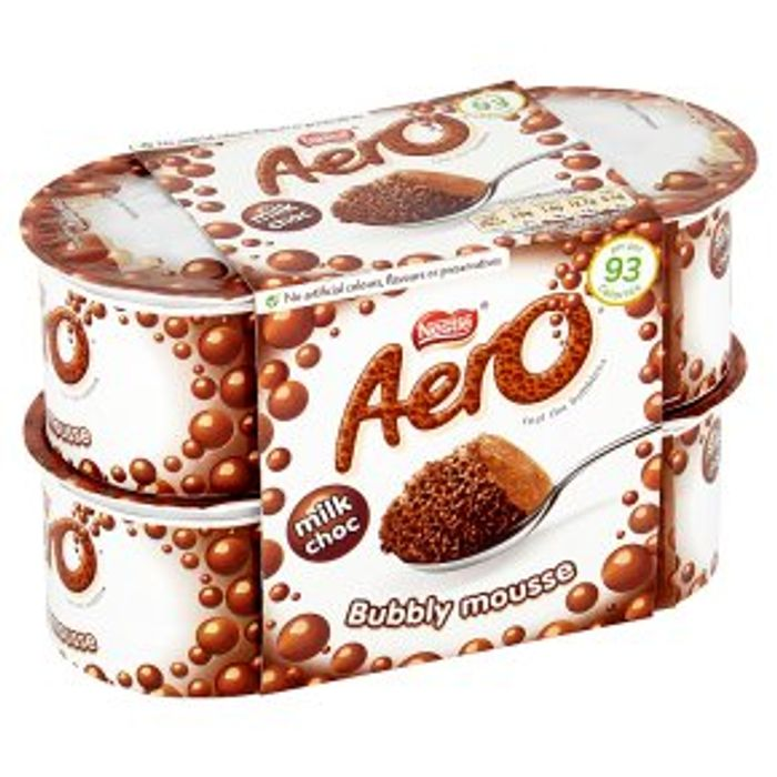 Nestle Aero Milk Choc Bubbly Desserts 4x59g