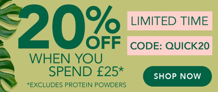 Extra 20% off When You Spend £25+