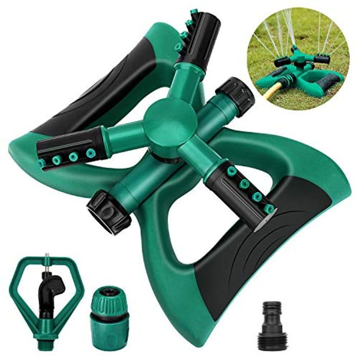Madeking Garden Sprinkler, Automatic 360 Rotating