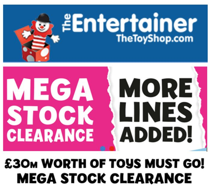 Special Offer - The Entertainer - TOY CLEARANCE - More Lines Added!