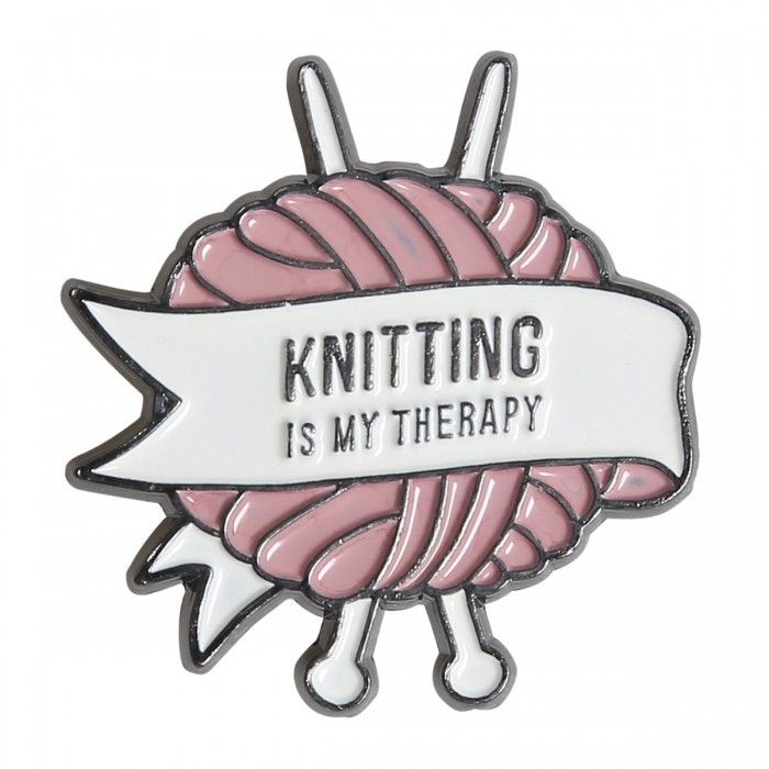 Cheap Pin - Knitting is My Therapy Only £2.75!