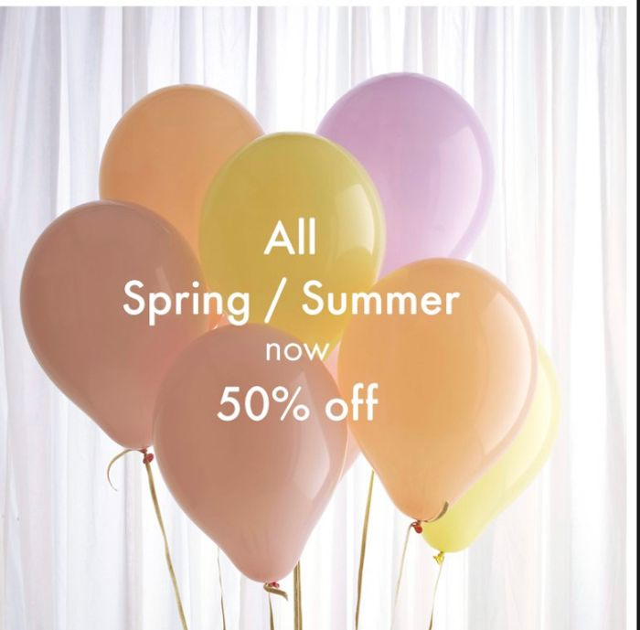 50% off All SS20 in Sale