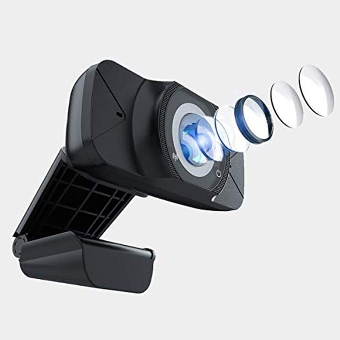 Save 50%- BONLOE Webcam with Microphone, 1080P HD