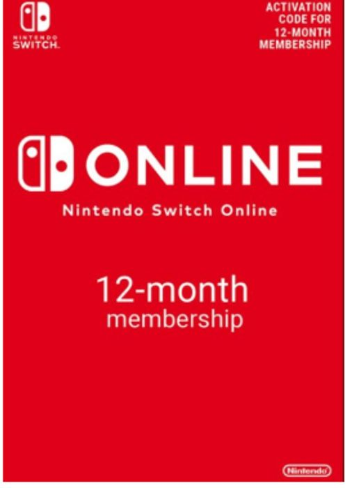 12 Month Nintendo Switch Online Membership - Instant Delivery