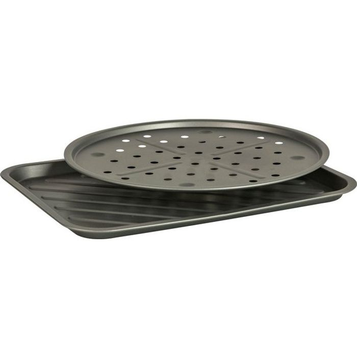 Argos Home 2 Piece Non Stick Pizza Pan & Oven Chip Tray Set Click & Collect