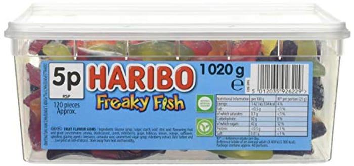 Cheap Haribo Tub Freaky Fish 1020g Only £4.47