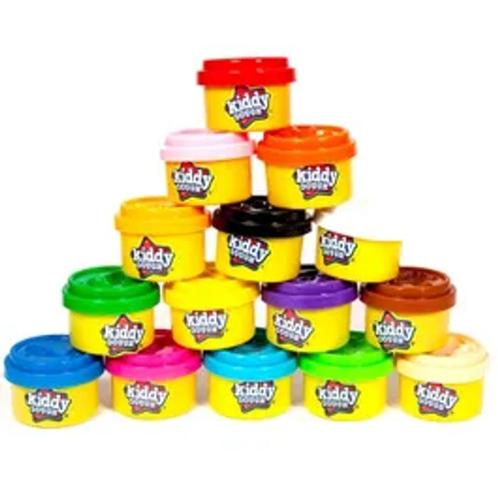 CHEAP! Kiddy Dough Party Pack *15 Pack With Fun Mould On Each Lid
