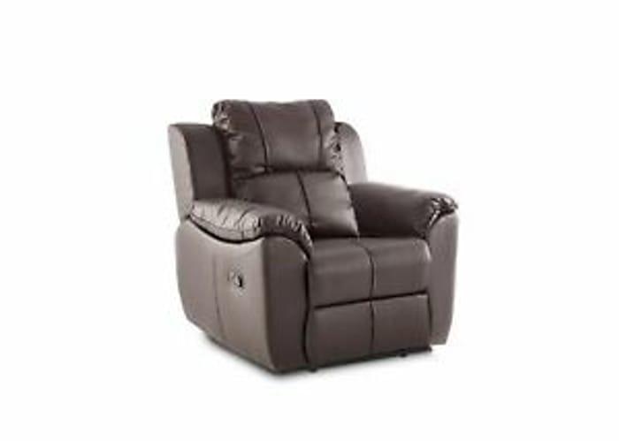 Islington Living Room Stylish PU Leather Brown Armchair