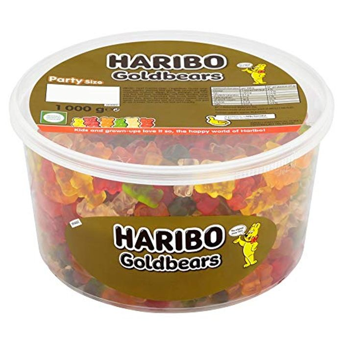 Cheap Haribo Gold Gummy Bear 1kg Sweets Party Tub Only £5