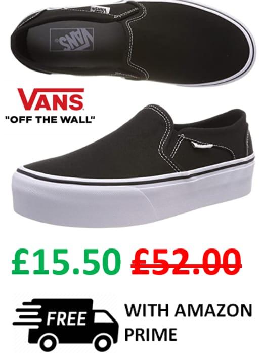 Vans Women's Asher Platform Slip-on. Sizes: 3.5 / 4 / 7.5