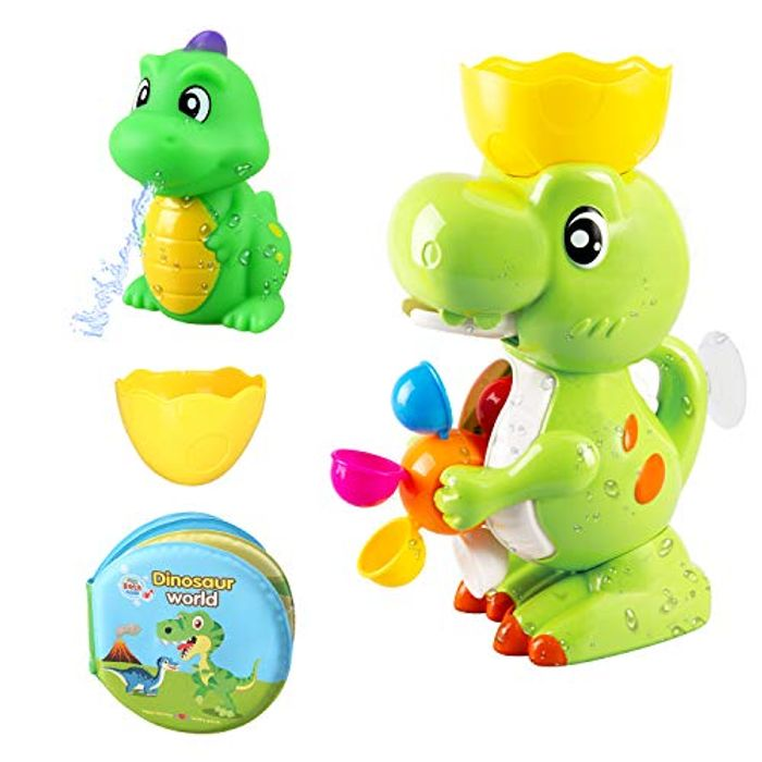 BeebeeRun Baby Bath Toy Dinosaur Bathroom Toy