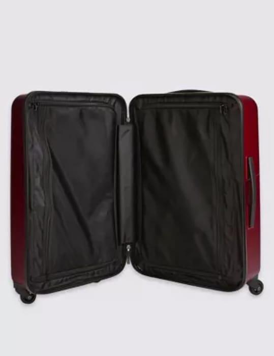 Medium 4 Wheel Hard Suitcase with Security Zip