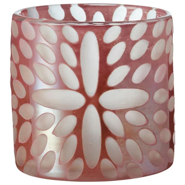 Cheap Bukva Glass Candle Holder - Pink - Save £10!