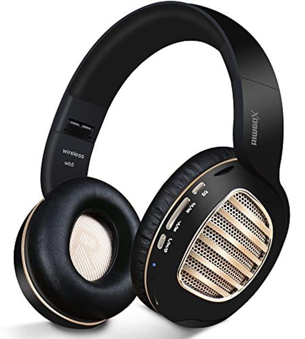 Bluetooth Headphones,Riwbox WB5 Wireless Headphones over Ear