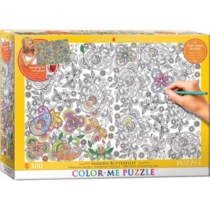XXL Color Me - Hidden Butterflies 300 Piece Jigsaw Puzzle