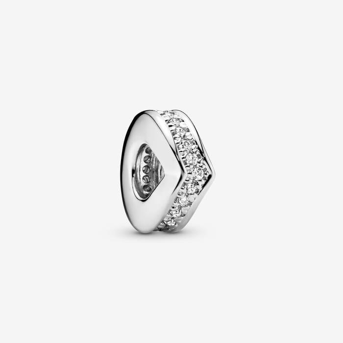 Pandora Sparkling Wishbone Spacer Charm