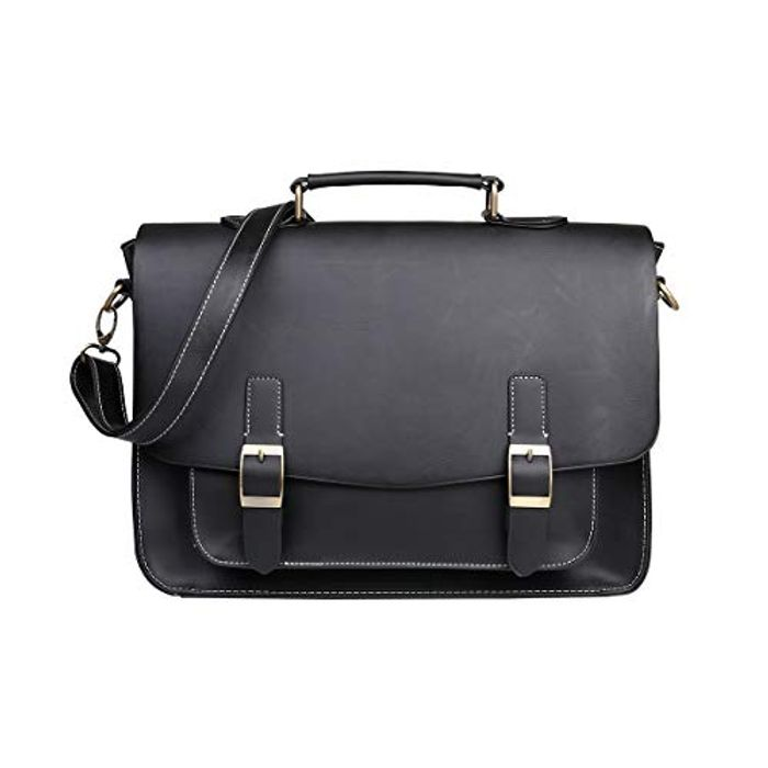 Price Drop! BOMKEE PU Leather Laptop Bags 13-14 Inch