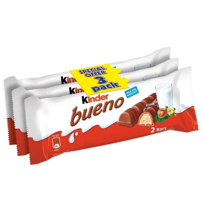 Kinder Bueno: Twin Bar (Case of 10 X 3 Multipacks)