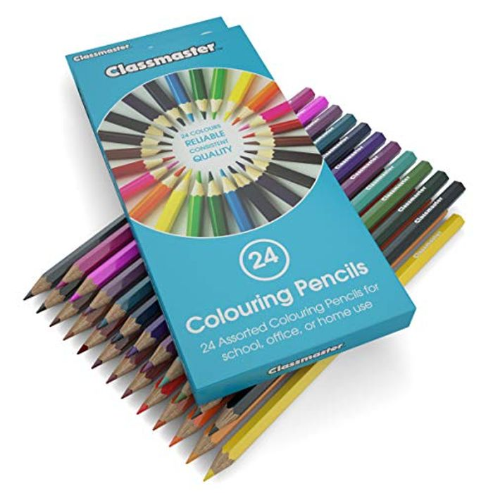 CHEAP!! Classmaster Colouring Pencils Wooden Set Assorted Colours (Pack of 24)