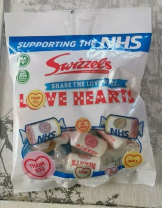 NHS Love Hearts Sweets Instore at Home Bargains All Profits Made Go to NHS