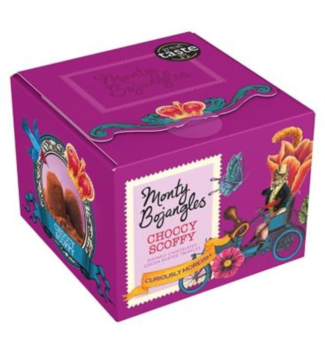 Monty Bojangles choccy scoffy chocolates trinket box
