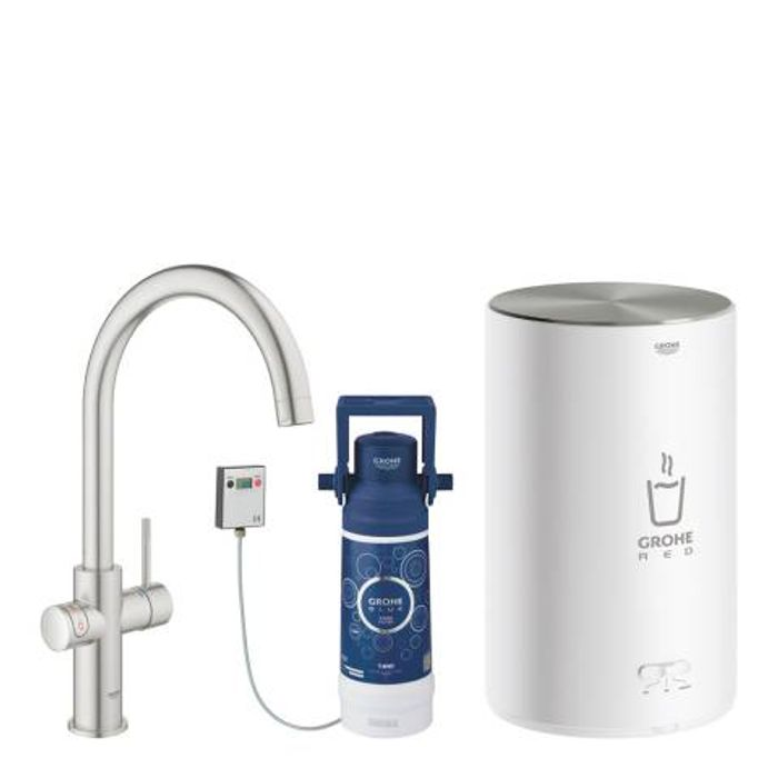 GROHE Red Duo Super Steel Kettle Tap & M Size Boiler