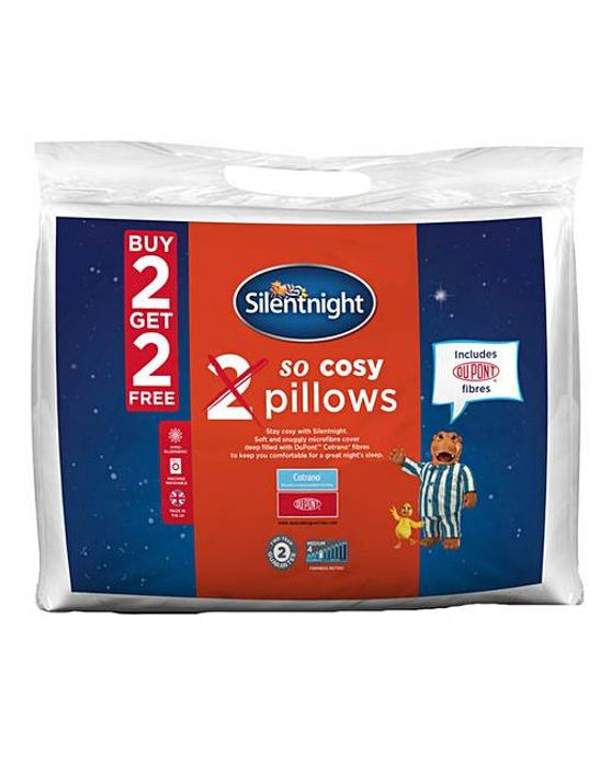 Silentnight so Cosy Pack 4 Pillows