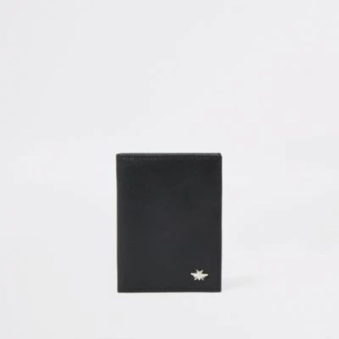 Black Leather Wasp Wallet