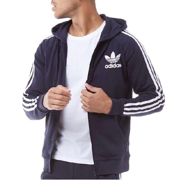 Adidas Originals Mens California Full Zip Hoody Legend Ink