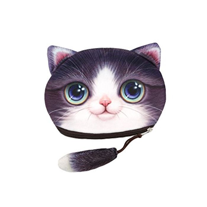 Lalang Funny Cat Face Soft Coin Purse FREE DELIVERY at Amazon