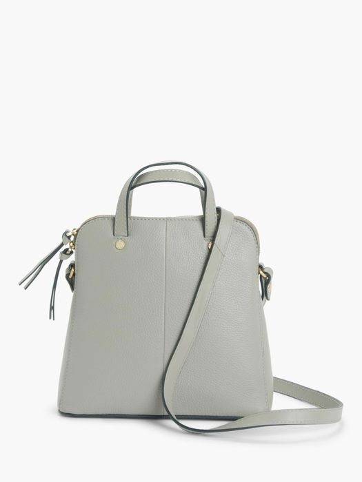 70% Discount- John Lewis & Partners Leather Small Cross Body Work Bag, Grey